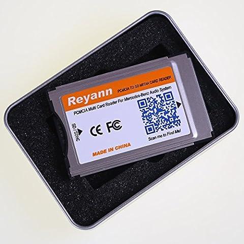 reyann PCMCIA para Tarjeta SD adaptador convertidor para Mercedes Benz sistema de PCMCIA apoyo SDHC 2GB, 4GB, 8GB, 16GB hasta 32GB