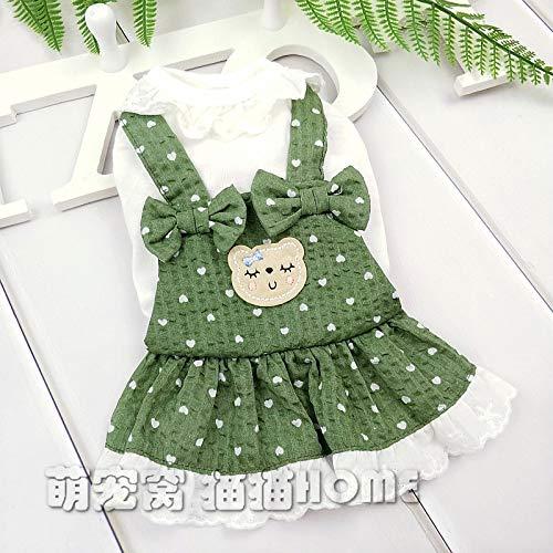 Teddy Cute Bear Kostüm Dog - lipanpan Innocent Cubs Dog Clothes Summer pet Costume Spring Summer Teddy Skirt Princess cat Than Bear Cotton