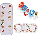 NICOLE DIARY Nail Rhinestones Christmas Snowman Nail Art Decoration en Wheel Alloy Metal 3D Accessories (4 patrones)