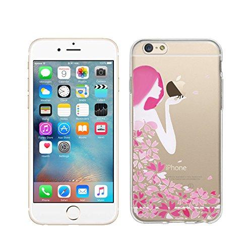 wortek Designer High Quality TPU Silikon - Case Schutzhülle Transparent mit Logo Motiv für Apple iPhone 6 / 6S (Kuss) (Designer-ostern-kleider)