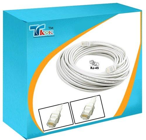 Männliche Ethernet-rj-45-kabel (13Meter CAT5E UTP-Ethernet-Netzwerk RJ-45(M), weiß, mit 2Ethernet-Kabel, RJ45Stecker, Suite für 1000Mbit/s))