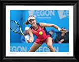 This is a high quality photographic print of Johanna Konta in a beautifully hand crafted black frame. Overall frame size is 466x365mm. If you would like a different frame colour please email us at: orders@arenaimaging.com All frames are made to order...