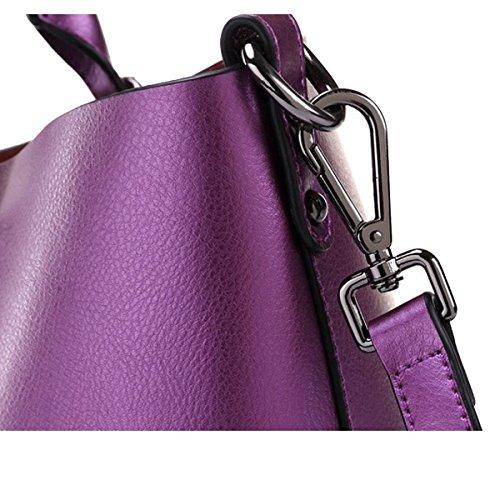 Faux Leather Delle Donne Borse Messenger Bag Borse Delle Signore Multicolore Red