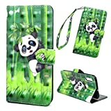 Handyhülle Kompatible für Huawei P Smart 2019/Honor 10 Lite Hülle Case Flip Cover PU Leder Tasche 3D Muster Flipcase Schutzhülle Handytasche Skin Ständer Klapphülle Schale Bumper Magnet Deckel-Panda