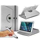 (weiß) Lenovo IdeaTab Lynx K3011[29,5cm] [Standfunktion] Schutzhülle für Lenovo IdeaTab Lynx K3011[29,5cm] Tablet PC Hülle Cover Tablet [Standfunktion] stabiler Synthetisches PU-Leder 60Roatating Schutzhülle [Standfunktion] mit 4Federn von i- Tronixs