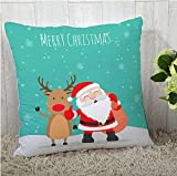 #6: The Purple Tree Merry Christmas Cushion Cover (16x16 inches) 1 pc , christmas cushion covers , christmas decorations, christmas gifts , christmas décor STFC00371