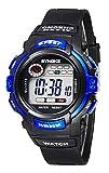 Orologio da Polso per Bambini Tondo Orologio Digitale con Cronometro Cronografo Allarme e Luminoso - Blu
