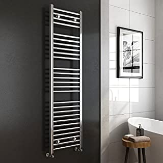 iBathUK | 1600 x 450 Premium Straight Heated Towel Rail Chrome Bathroom Radiator RH1600450