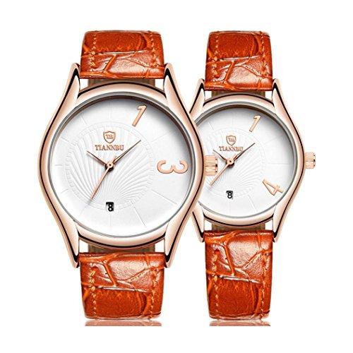 regalo-ideale-per-san-valentino-hansee-lovers-orologi-cinturino-in-pelle-2pz-ultrasottile-impermeabi