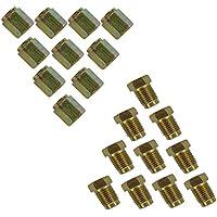 20Pkt 10mm kurz Bremse Rohr Muttern 10x männlich 10x weiblich für 3/40,6cm Pipe Metrisches