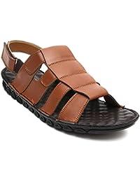NOHIDE Vegan Leather Tan Comfort Sandals For Men