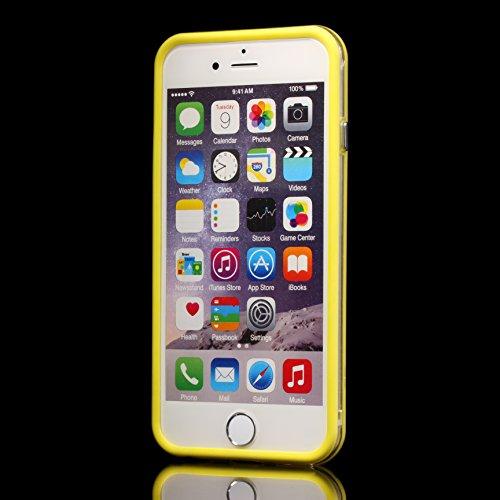 Urcover® iPhone 6 6S Bumper, TPU / Silikon Schutz-Rahmen Hülle Schutzhülle Case Cover Smartphone Zubehör Silikon-Rahmen für Apple iPhone 6 / 6S Farbe: Orange Gelb