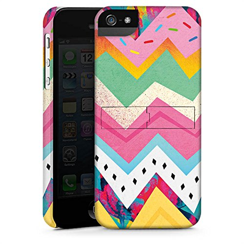 Apple iPhone X Silikon Hülle Case Schutzhülle Muster Zickzack Eis Premium Case StandUp