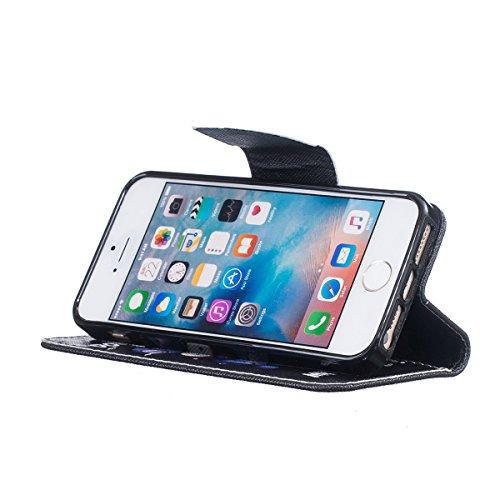 iPhone 5S Coque, iPhone SE Coque, Lifeturt [ Purple Butterfly ] [book-style] Flip Case Coque en PU Cuir Housse de Protection Étui à rabat Case Cover Ultra Slim Portefeuille PU Cuir avec stand de Carte E02-Ne touchez pas mon téléphone4152