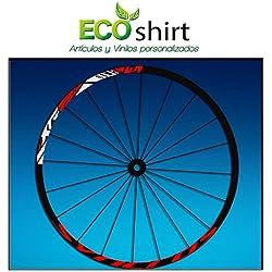 "Ecoshirt 9M-BYSP-LA57 Pegatinas Stickers Llanta Rim DT Swiss Syncross Xr25 MTB Downhill, Rojo 29"""