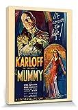 1art1® La Momia - Revive De Nuevo, 1932 Cuadro, Lienzo Montado Sobre Bastidor (40 x 30cm)
