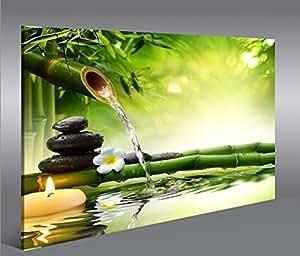 leinwand bilder wasser zen v3 1p modern art bilder prints poster f r wohnzimmer. Black Bedroom Furniture Sets. Home Design Ideas
