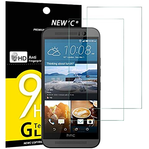 2 Pack Verre Trempé Htc One M9, NEWC® Film Protection