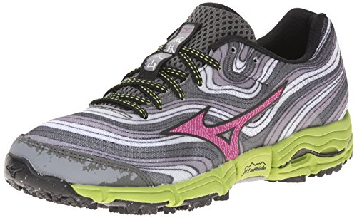 Mizuno Women's Wave Kazan Trail Running Shoe, Alloy Wild Aster, 9.5 B US