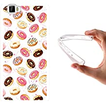 WoowCase Funda Cubot X17, [Cubot X17 ] Funda Silicona Gel Flexible Donuts, Carcasa Case TPU Silicona - Transparente