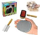 mws 82009 Kit delle Coccole 3 pz di spazzole per la Pulizia e la Cura del Cane