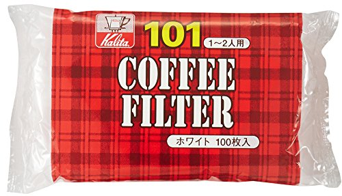 White Paper Filter (Coffee Filter Kalita Paper 101Size White 100Sheets by)