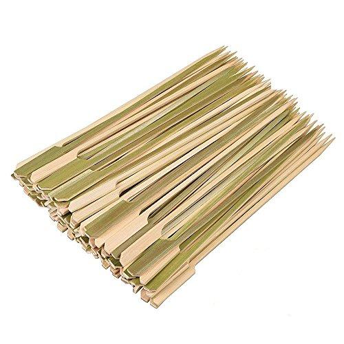 MINGZE 200 Piezas Pinchos bambú Natural 18cm Pinchos