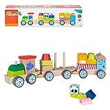 WOOMAX- Tren de madera con animales (Color Baby 40997)