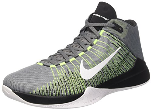 Nike Herren Zoom Ascention Sportschuhe-Basketball, Gris (Cool Grey / White-Volt-Black), 43 EU