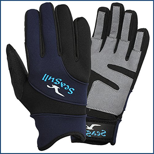 Segelhandschuhe Neopren Stoppuhr Freundlicher Winter Sailing Handschuhe Amara Full finger-x Große