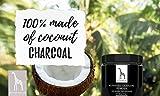 Aktivkohle Pulver von Mother Nature® – vegan – zur Zahnaufhellung & Zahnreinigung | 100% Natural Activated Charcoal Teeth Whitening Powder | für natürlich weiße Zähne - 4