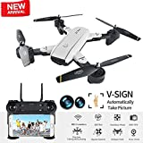 BIZONOD Drone with Camera Live Video, SG700 WIFI FPV Rc Drone with Dual 2.0MP Optical Flow Camera Auto-photograph Folding RTF Remote Control Helicopter Toy for Kids and beginners from BIZONOD