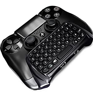 New Dream PS4 Bluetooth Mini Wireless Chatpad Message Game Controller Keyboard (Black)
