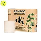 Zuzii 3-lagige Bambus Toilettenpapier,100% Bambus,Vegan,sensitiv,hautfreundlich,umweltfreundlich,kein Duft|60 Rolle