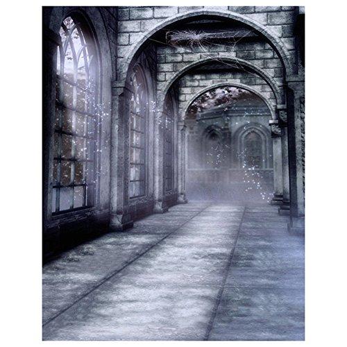SODIAL(R) Halloween Geheimnisvolle Szene Gotik gewoelbt Architektur Bogen Tuer Fotografie Kulissen Bild Hintergruende Wandmalerei Farbe Name: alte Architektur