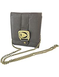 "Morgan [E3726] - Portefeuille Pochette ""Morgan New Chain Game"" Marron"