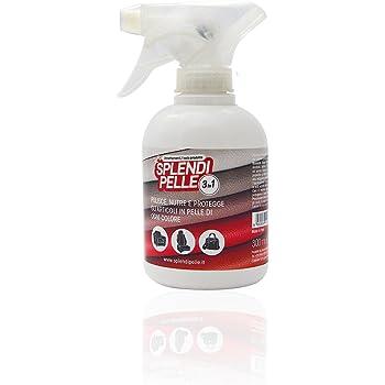 SPLENDIPELLE ® 3 in 1 nutriente per Articoli in Pelle, Cuoio ed Ecopelle, pulisce, nutre e Protegge, 300ml