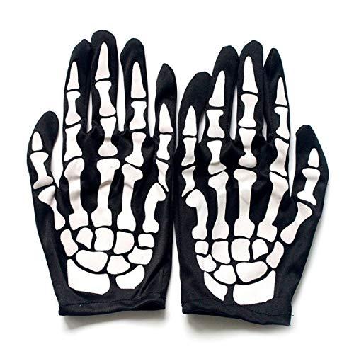 Delicacydex Terror Skeleton Handschuhe Geist Knochen für Erwachsene -