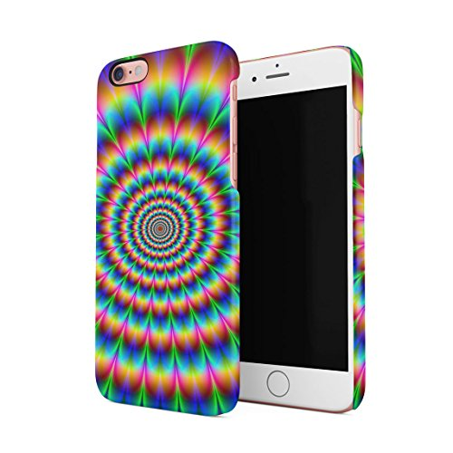 Regenbogen Hippie Holographic Print Pastel Acid Trippy Marmor Dünne Rückschale aus Hartplastik für iPhone 7 & iPhone 8 Handy Hülle Schutzhülle Slim Fit Case cover Acid Trippy