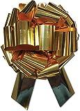 30,5cm di diametro con 28anelli archi regalo gigante, grande fiocco da tirare per regali di Natale, ghirlande, ghirlande, grande auto archi, grande regalo archi, color oro