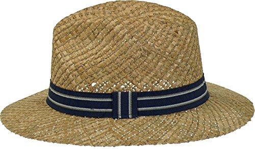 Chapeau de paille très légère en stroharten 2 combinés Bleu - Marine