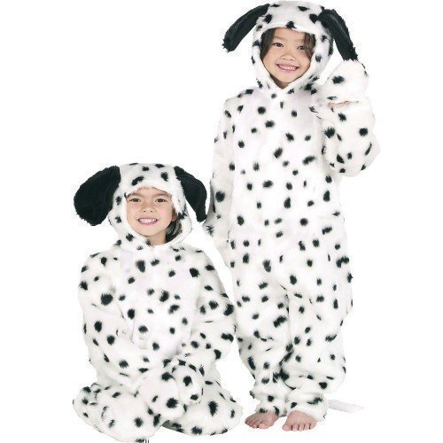Jungen oder Mädchen Kinder Deluxe Dalmatiner Einteiler Animal Kostüm Kleid Outfit - 3 years (Mädchen Dalmatiner Kostüme)