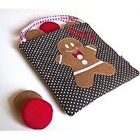 Tic Tac Toe Natale - Gioco Tris Pan di Zenzero in stoffa e feltro