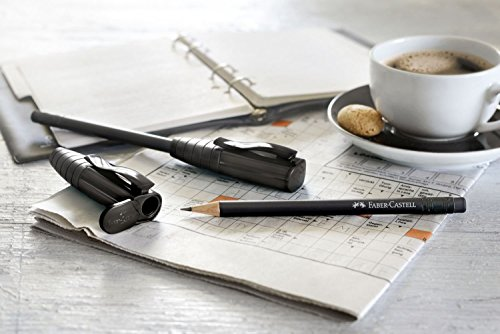 Faber-Castell Perfect Pencil III – Lápiz negro, dureza B, con goma de borrar
