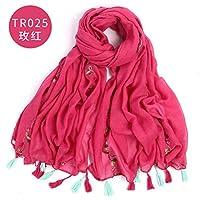 Ztweijin Dame Foulard Bestickter schal schal für Frauen aus schal Winter Baumwolleschal Luxus