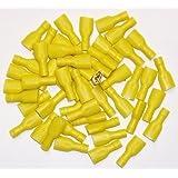 Cosses électriques femelles JAUNES 9.5 - Sachet de 50