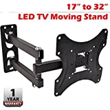 AMPEREUS Premium Heavy Duty Wall Mount Stand for 17 to 32-inch LCD LED TV, 30x25x6(Black, WallM02)