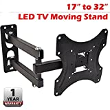 #10: AMPEREUS Premium Heavy Duty Wall Mount Stand for 17 to 32-inch LCD LED TV, 30x25x6(Black, WallM02)