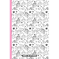 Unicorn Journal and Sketchbook: Journal and Notebook for Girls, Doodling, Sketching and Notes, Perfect for Journal, Large Blank Sketchbook For Girls