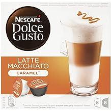 Nescafé Dolce Gusto - Latte Macchiato Caramel - 3 Paquetes de 16 Cápsulas - Total: 48 Cápsulas